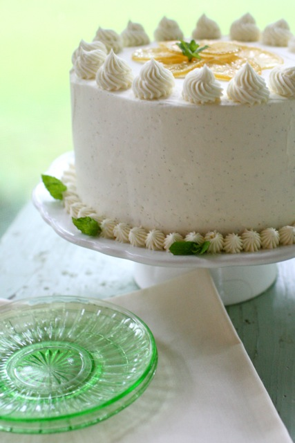 Lemon Layer Cake with Vanilla Bean Frosting - Everyday Annie