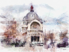 glise Saint-Augustin. Paris (piker77) Tags: painterly paris france art architecture digital photoshop watercolor painting interesting media natural aquarelle digitale manipulation simulation peinture illusion virtual watercolour transparent acuarela tablet technique wacom glise stylized pintura imitation dap  aquarela aquarell emulation malerei saintaugustin pittura virtuale virtuel naturalmedia urbanpics    piker77wc