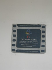 Photo of Graham Greene film cell plaque