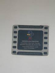 Photo of Graham Greene film cell plaque