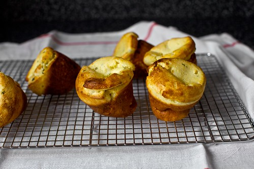 buttermilk popovers with corn and chives