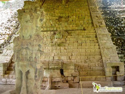Visit to Copan Ruins Honduras - Mayan Ceremonial Site - main staircase