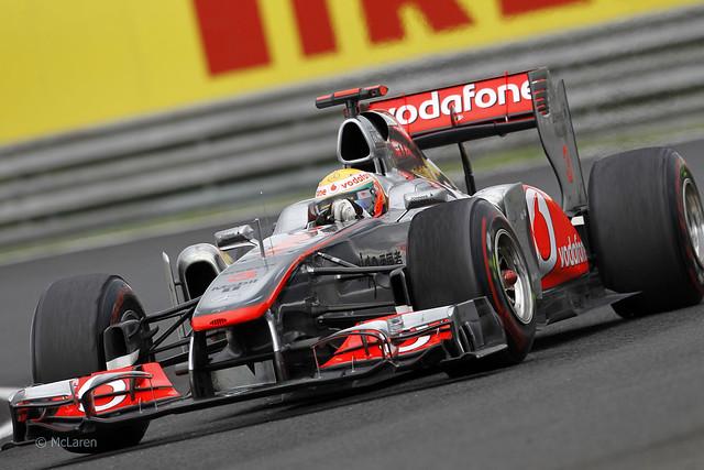 Lewis Hamilton McLaren Mercedes MP4-26 F1 2011 Hungarian GP