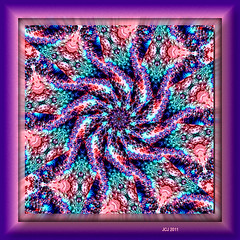 EMBOSSED SPIRAL FRACTASCOPE (fantartsy JJ *2013 year of LOVE!*) Tags: abstract art photoshop circles bubbles fractal photoart kaleidoscopes blueribbonwinner supershot anawesomeshot flickrdiamond originaldigitalart thesuperbmasterpiece fractalsmademyway