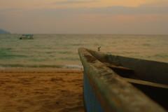 Infinity... (MahanMD) Tags: ocean sunset sky beach sadness boat sand infinity bluewater silence malaysia غروب ساحل tiomanisland آسمان دریا قایق canon400d دلتنگی