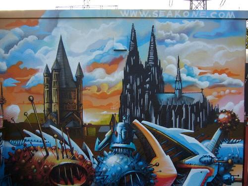 typisch Köln. typisch Kölsch. Bild gemalt von SEAK