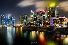 The Night That The Lights Never Went Out | Part 7 | Singapore (naza.carraro) Tags: show park city travel blue light party vacation holiday color water festival museum architecture marina river geotagged bay sand nikon singapore asia jetty lion quay tokina hour esplanade cbd fullerton merlion temasek singapura mbs raffles sungai ntuc kallang maybank naza artscience naza1715 nazarudin