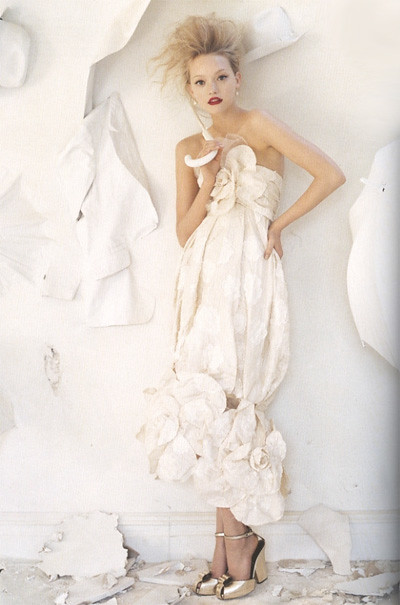 GemmaWard Tim Walker Chanel gown