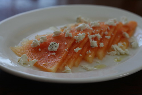 watermelon carpaccio with chevre