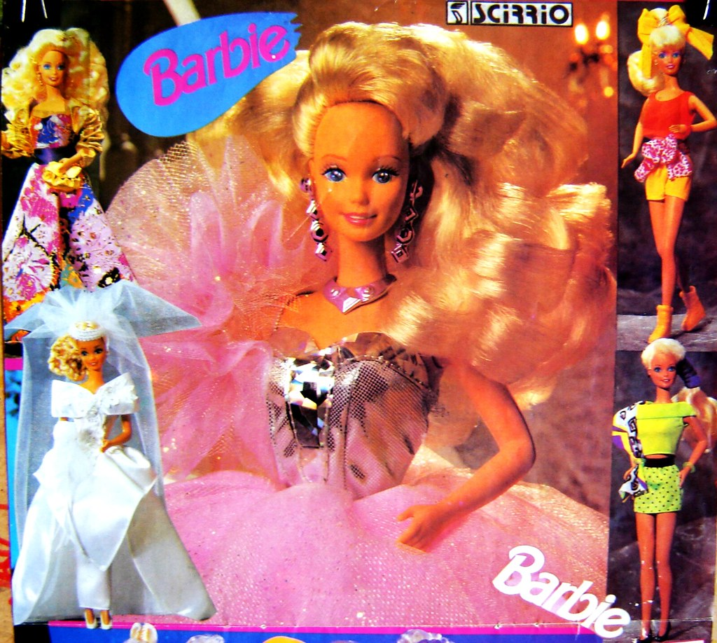 Barbie poster, early 90's (upper part)