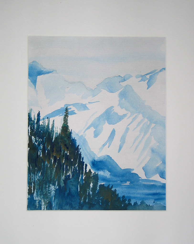Water Color from photo taken at Skagway