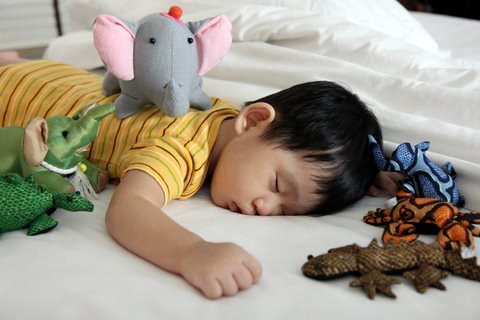 Ethan_Sleeping with Toys