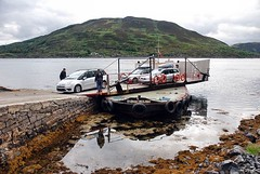 Kylerhea Ferry (floato) Tags: reflection skye cars water beautiful beauty car ferry scotland turntable reflect manually operated kylerhea glenachulish