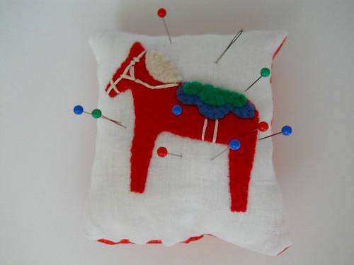 Dala Horse Pincushion