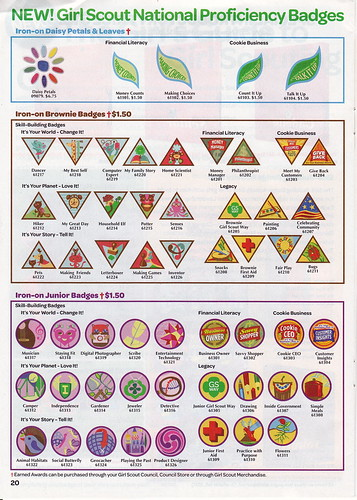 New Brownie and Junior Girl Scout Badges - Fall 2011