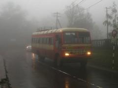 Bus in clouds (Akshay buses) Tags: bus buses st tata monsoon mahabaleshwar msrtc busfanning