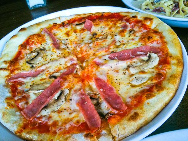 Ham & Mushroom Pizza