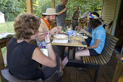 08-05-11: Dinner at Chet's (Ryan Grayson) Tags: camping nature outdoors hiking backpacking hiker backpacker appalachiantrail at