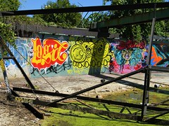 Grimey (Sk8hamburger) Tags: up wall painting graffiti paint character tag meme take amc piece tagging throw atb logic bep wkt throwie up throw fewandfar upfuk