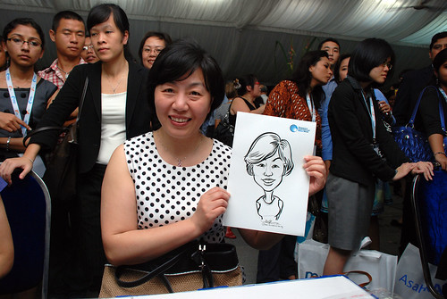 caricature live sketching for Singapore International Water Week Closing Dinner - 16