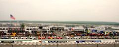 Nascar/slot car at Pocono (Nick Stewart2) Tags: canon pennsylvania nascar rv insurance raceway pocono tiltshift pitroad eos400d nickstewart sprintcup nascarsprintcupseries trickytriangle nickstewart2 500pocono goodsamrvinsurance500