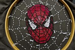 Spider-Man Back (stitchFIGHT) Tags: back crossstitch cross stitch embroidery spiderman marvel xstitch