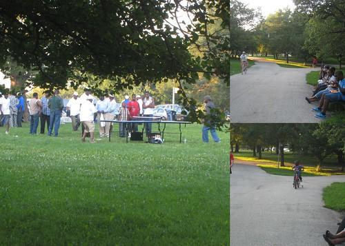 park goers