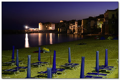 Cefalu' - Still sleeping (ciccioetneo) Tags: summer vacation italy beach night speed port 35mm dawn lights pier nikon holidays long exposure italia slow shot harbour creative commons cc aurora creativecommons shutter sicily luci palermo f28 spiaggia molo ai sicilia cefalu notturno porticciolo bej flickrdiamond d7000 ciccioetneo