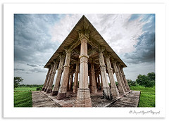 (Divs Sejpal) Tags: sky india color colour green heritage monument nature architecture clouds nikon open angle details wide dramatic gujarat archeological divyesh champaner divssejpal sejpal kevdamasjid sigma816 dcs2909jpg