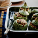 Round Summer Squash stuffed with Couscous, Beef and Tomatoes by Meeta K. Wolff