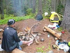 Bird Creek Camp - before Stefan