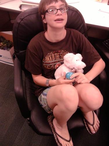 Girl Monkey at work.