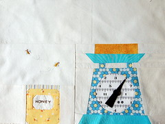 Baking Honey Pie, for Lauree (Bellgirl) Tags: scale recipe quilt bees honey hexagon patchwork honeycomb pieced cocorico