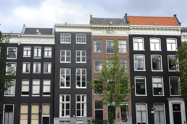 hiške ob kanalu, Amsterdam