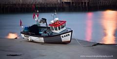 The R488, Folkestone Harbour. (ziggystardust111...taking a break !!!) Tags: red seaweed yellow lights boat sand harbour flags ropes fishingboat folkestone folkestoneharbour r488