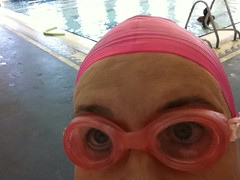 Year 5~Day 301 +272/365 AND Day 1762: LIR Classes - Water Aerobics & Swimming Lessons (Old Shoe Woman) Tags: selfportrait me pool swimming georgia byemail goggles ofme wireless swimcap 365days