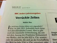 WAZ 01.10.2011: Kommentar zur BBC