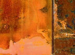 divide (skylinejunkie) Tags: pink red orange brown abstract art metal rust iron paint industrial decay rusty minimal faded rusted simplicity scrapyard minimalist foundpainting