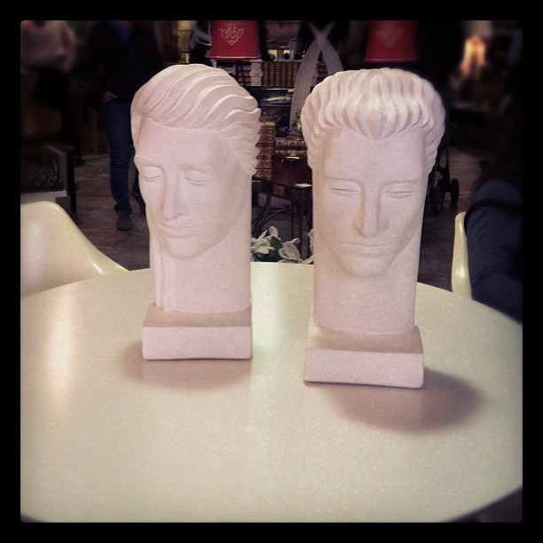 Bisque 1960s Male Busts