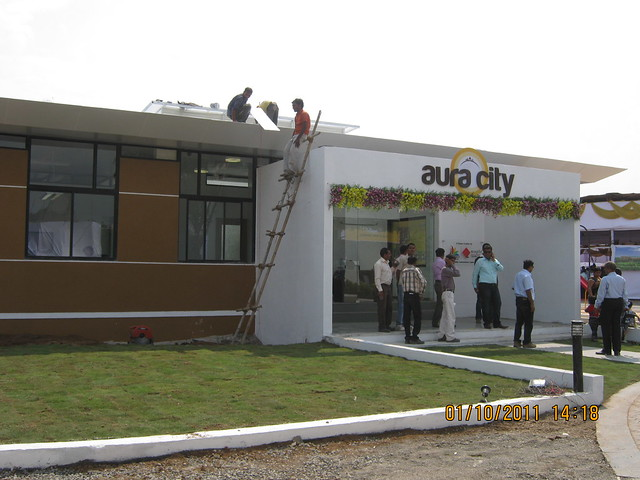 Sample flats of 1 BHK & 2 BHK Flats are ready at  Aura City, at Shikrapur, on Nagar Road, Pune 412 208