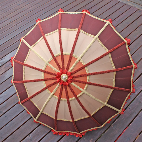 brown tan umber parasol-1