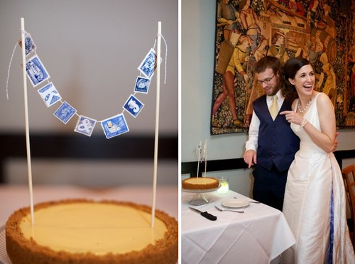 Wedding Pie & Stamp Garland