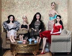 The Agnes Appreciation Society (Suburban Tabby) Tags: silver festive toys glamour estate head agnes fashiondoll royalty regal decadence poesie zinger fashionroyalty integritytoys enchantee agnesvonweiss