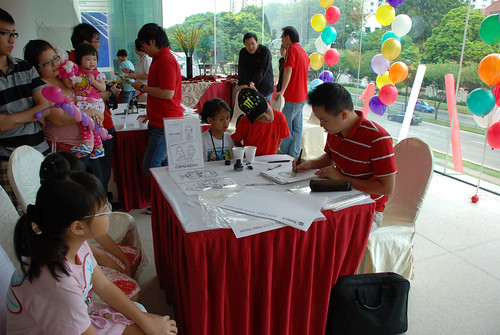 Caricature live sketching for Sime Darby Select Open House Day 2 - c