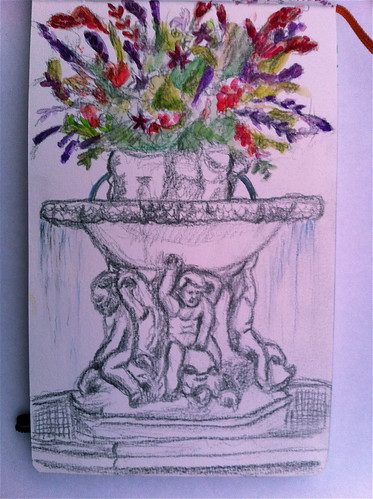 peabody fountain sketch
