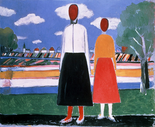 Kazimir Malevich - Two Figures in a Landscape [1931-32]