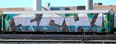 "Ich -- ""To defy the laws of tradition is a crusade only of the brave."" (LadyBench) Tags: train graffiti insane winnipeg rail killer ich freight ichabod autorack wholecar fr8 benching bestfreights"