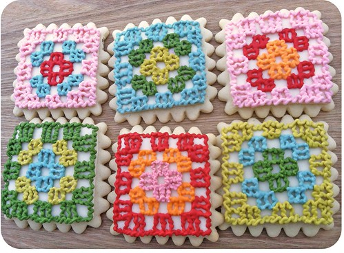 Granny Square Cookies by Sugar & Meringue / Flying Time Designs
