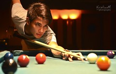 Take a cue (kristian.eric) Tags: portrait male sports pool night ball mood cue nine 8 9 indoor portraiture billiards eight cuestick krism kristianm kristianeric