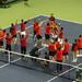 Spanish team celebrating Davis Cup victory